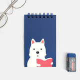 Jinjung - Bookfriends Reading pet wire-bound grid writing pad