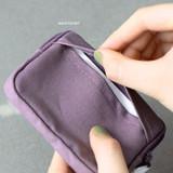 Back pocket - ICONIC Cottony flat zipper card holder case