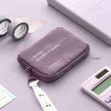 03 Purple - ICONIC Cottony flat zipper card holder case