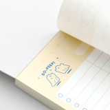 100gsm paper - ICONIC Haru dateless daily study planner desk notepad