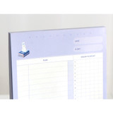 Undated planner - ICONIC Haru dateless daily study planner desk notepad