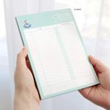 03 Mint - ICONIC Haru dateless daily study planner desk notepad