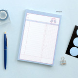 04 Blue - ICONIC Haru dateless daily study planner desk notepad