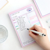 ICONIC Haru dateless daily study planner desk notepad