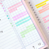 Detail of ICONIC Haru dateless daily study planner desk notepad