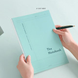 31 Soft Mint - ICONIC Basic Cornell spiral bound lined and grid notebook
