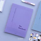 29 Lavender - ICONIC Basic Cornell spiral bound lined and grid notebook