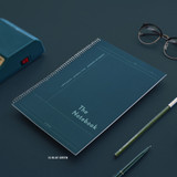 32 Blue Green - ICONIC Basic Cornell spiral bound lined and grid notebook