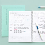Usage example - ICONIC Basic Cornell spiral bound lined and grid notebook