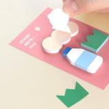 01 Milk - ICONIC Tiny sticky memo bookmark notepad set