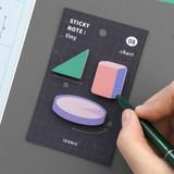 08 Chart - ICONIC Tiny sticky memo bookmark notepad set