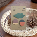 03 Forest - ICONIC Tiny sticky memo bookmark notepad set