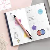 Usage example - ICONIC Tiny sticky memo bookmark notepad set