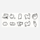 10 sheets - NACOO Choor cat removable sticker set