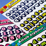 Usage example - Kitsch kitsch Alphabet & Number holographic glitter sticker
