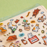 Usage example - Ardium Cat and Dog small friends removable sticker