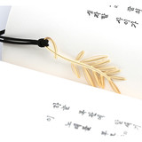 Palm tree - Bookfriends Plant 18K gold plated bookmark
