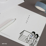 With You - DESIGN GOMGOM My You mini card and envelope set