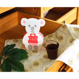 Jam studio Stand up cute animal message card with envelope