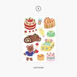01. Love pound - Project object my juicy bear removable sticker