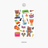 06. Musician - Project object my juicy bear removable sticker