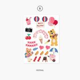 05. Festival - Project object my juicy bear removable sticker