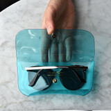 Usage example - Play obje Sunny neon clear PVC glasses pouch