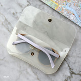 Milky - Play obje Sunny neon clear PVC glasses pouch