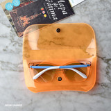 Neon Orange - Play obje Sunny neon clear PVC glasses pouch