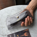 Smoky Gray - Play obje Sunny neon clear PVC glasses pouch