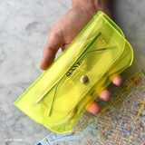 Neon Yellow - Play obje Sunny neon clear PVC glasses pouch