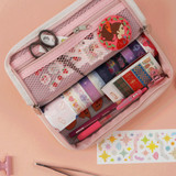 Usage example - After The Rain On the table zipper pen case pouch