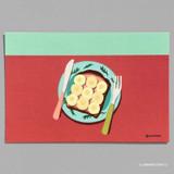 13 BANANA TOAST 2 - Design comma-B Sweet dessert illustration postcard