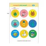 Circle - Design-comma-B-Retro-mood-paper-sticker-