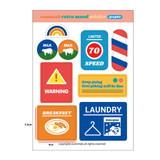 Graphic - Design-comma-B-Retro-mood-paper-sticker-
