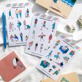 Design comma-B Today illustration paper sticker