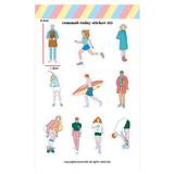 002 - Design comma-B Today illustration paper sticker