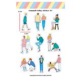 001 - Design comma-B Today illustration paper sticker