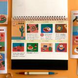 Usage example - Sweet dessert illustration squared paper sticker