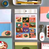 Sweet dessert illustration squared paper sticker