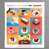 003 - Sweet dessert illustration squared paper sticker