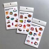 Design comma-B Sweet dessert illustration paper sticker