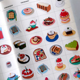 Usage example - Design comma-B Sweet dessert illustration paper sticker