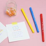 Usage example - ROMANE Four seasons double ended color pen set