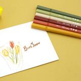 Autumn - ROMANE Four seasons double ended color pen set