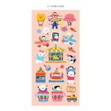 13 theme park - ICONIC Joy mini removable sticker seal