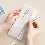 ICONIC Cottony flat zipper pencil case pouch