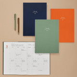 Opens flat - Antenna Shop 2021 Table talk B5 dated monthly diary planner