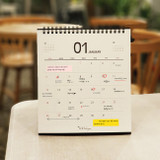 ICIEL 2021 Black monthly desk calendar