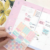 Comes with a sticker - PLEPLE 2021 Chou Chou dated weekly planner scheduler